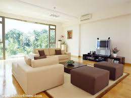 Living Room Brown Sofa Cream And Brown Sofa Design And White Wall In Living Room With