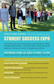 student success expo this saturday at fridley high school student success expo schedule at a glance