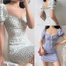 F&F <b>Sexy Puff Sleeve</b> Dress Chiffon Floral Dress sleeve dress bsco ...