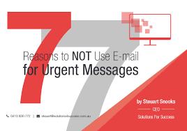 taming the email tiger steuart snooks email etiquette training 7 reasons to not use e mail for urgent messages