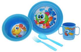 <b>Cosmoplast Набор</b> детской <b>посуды</b> Baby Tris Set Рыбка 5 ...