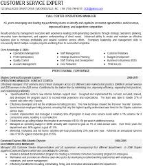 call center operations manager resume example
