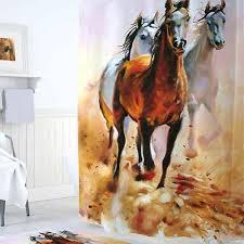 <b>Шторы для ванн</b> полиэстер <b>Tropikhome</b> DIGITAL PRINTED Horses ...