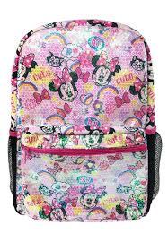 <b>Disney Minnie Disney Minnie Mouse</b> Sequin Pink Teen <b>Backpack</b> ...