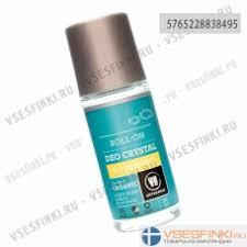 <b>Шариковый дезодорант</b>-<b>кристалл</b> Urtekram <b>без</b> аромата 50мл ...