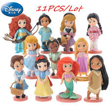 11PCS Disney Princess Series Snow White Model Toys Mermaid ...