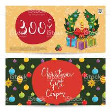christmas gift voucher prepaid sum template stock vector art christmas gift voucher prepaid sum template royalty stock vector art