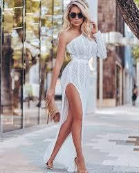 <b>MUXU</b> fashion knitted long one shoulder dress <b>vestidos</b> robe femme ...
