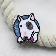 AHYONNIEX Embroidered <b>Cute Dog Patches</b> Clothes Bags DIY ...