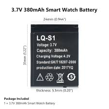 Promotion Smart Watch Battery <b>LQ S1 3.7V RECHARGEABLE</b> ...