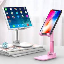 Folding <b>Phone</b> Holder <b>Desktop Live</b> Tablet Support <b>Stand</b> ...