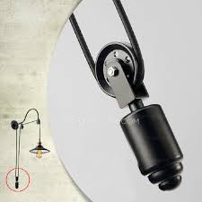 cheap industrial lighting pulley shaped adjustable wall sconce cheap industrial lighting