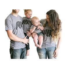 BCSY PAPA MAMA BABY Bear Shirt Baby Rompers <b>Summer Family</b> ...