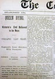 2 1901 newspapers death of queen victoria england royal family lot of 2 1901 newspapers announcing the death of queen victoria the longest serving queen in the history of england and great britain until that time and