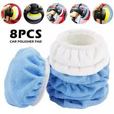 Willkey <b>8PCS Car Microfiber</b> Polishing Pad Bonnet Set(5/6 Inches ...