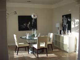 dining room wall decorating ideas: dining room gold color completed modern room wall decor ideas sweet natural mahoghany wood arm