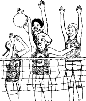 Image result for volleyball player clipart