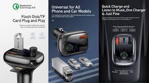 <b>Baseus S</b>-13 - LCD MP3 Player Dual USB Car Charger QC 4.0 ...
