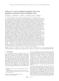 (PDF) Evidence of a role for modulated atmospheric <b>tides</b> in the ...