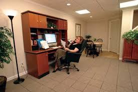 while yahoo basement home office