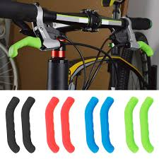 <b>2PCS Silicone Bicycle</b> Lever Grips Protectors Cover Sleeve MTB <b>Bike</b>