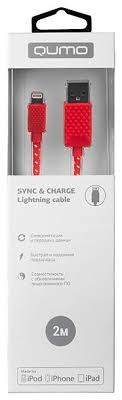 <b>Кабель Qumo USB</b> - Lightning (MFI Nylon+ABS) 2 м — купить по ...