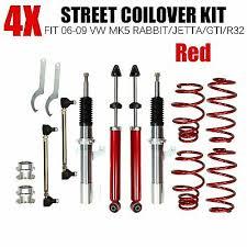 <b>4PCS</b> STREET COILOVER KIT FITS 2006-2009 <b>VW</b> MK5 RABBIT ...