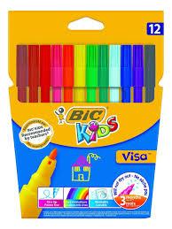 <b>Цветные фломастеры BIC</b> Visa, 12 цветов BIC 666169 в ...