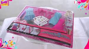Barbie <b>Набор</b> одежды Модная дизайн студия X7895 - YouTube