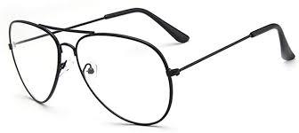 <b>Fashion Retro</b> Pilot Aviator <b>Glasses</b> Metal Frame Men <b>Women</b> Clear ...