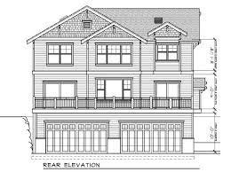 House Plan at FamilyHomePlans comBungalow Craftsman House Plan Rear Elevation