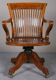 oak swivel reclining desk chair antique antique swivel office chair