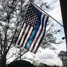 90*150cm White <b>Blue Line USA Police</b> Flags Thin American ...
