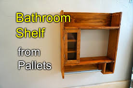 bathroom shaving shelf from pallet wood how to youtube bathroom furniture pallets