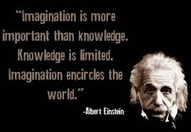 The true sign of intelligence is not knowledge but imagination. via Relatably.com