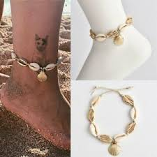 <b>Natural Sea Shell</b> Bead Anklet Cord Charm Bracelet Chain <b>Boho</b> ...