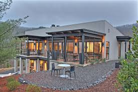 metal building homes exterior modern with none building home office