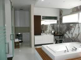 bathroom interesting modern bathroom ideas with bathtup and cabinet also sink also recessed lighting in white ceiling also flooring tile ceramic also amazing lighting ideas bathroom