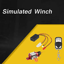 Steel Winch System with Remote Controller Receiver Part for 1/10 ...