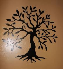 tree scene metal wall art: metal wall art uk tree large bridge tree metal wall art sculpture