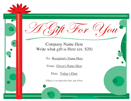 the blank gift certificate from vertex com helpful christmas gift certificate templates by fko50085 0cktzlwe
