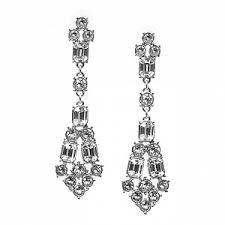 <b>Покрытые серебром</b> серьги с кристаллами Crystal deco - купить ...