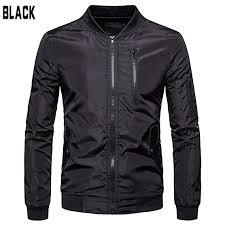 Buy AKDSteel Men Windproof Jacket Coat Simple <b>Solid Color Large</b> ...