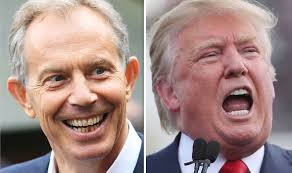 Image result for Trump farage blair