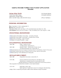 sample resume for ojt accounting students make resume cover letter samples of resume for students sample