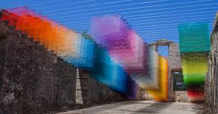 <b>Colorful</b> Installations of Spray Paint and <b>Mesh</b> Form Connections ...