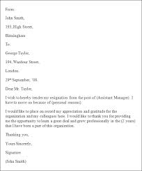resignation letter format word  seangarrette coresignation letter format