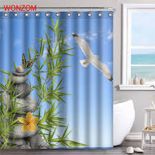 <b>WONZOM Stone</b> Sky <b>Waterproof Shower</b> Curtain Serenity <b>Bathroom</b> ...