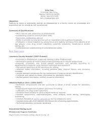 sample resume for phlebotomist sample resume  sample resume for phlebotomist