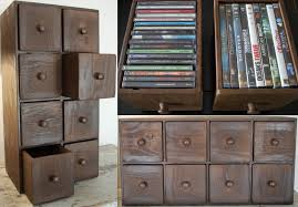 rustic cd storage with 8 drawers featuring wooden handles apothecary furniture collection
